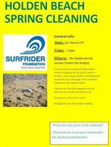 Holden Beach Spring cleaning on 29MAR14 1to4pm